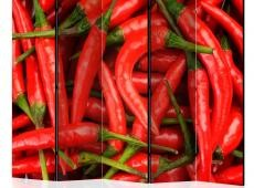 Paraván - chili pepper - background II [Room Dividers]